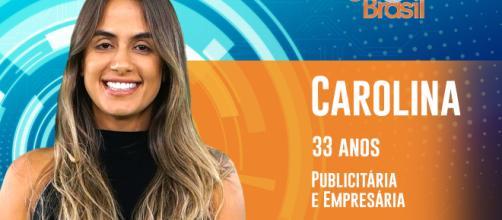 BBB 19: Carolina Peixinho é a primeira mulher da edição a ser revelada (Divulgação/GShow)
