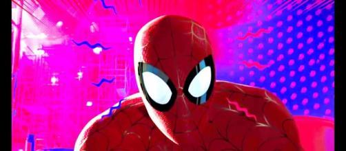 Na foto uma cena da animação Homem-Aranha: no Aranhaverso (Reprodução)
