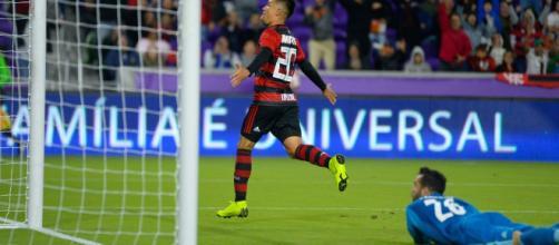 Uribe foi destaque no jogo entre Flamengo e Ajax. Foto: Alexandre Vidal, Flamengo.