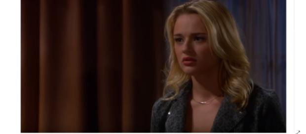 Hunter King returns to Y&R as Summer to wrealk havoc on Genoa City. (Image SOurce: The Emmy Awards-YouTube.)
