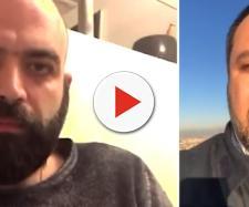 Ancora Roberto Saviano contro Matteo Salvini