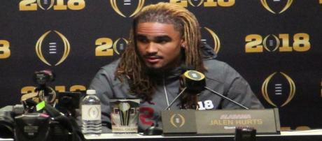 Could Jalen Hurts end up at Nebraska? [Image via Thomson200/Wikimedia Commons]
