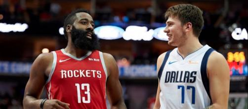 James Harden and Luka Doncic each had big nights in the NBA on January 11. [Image via Bleacher Report/YouTube screencap]