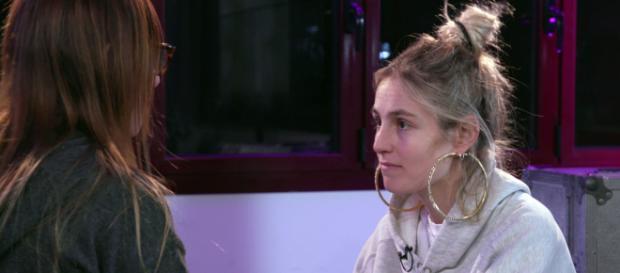 María ensaya 'Muérdeme' en la Academia de 'OT'. / RTVE.es