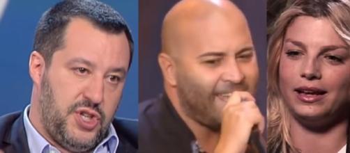 Giuliano Sangiorgi ed Emma Marrone, tra i cantanti che si sono schierati contro Matteo Salvini.