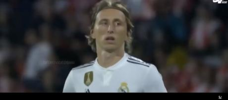 Modric con la maglia del Real.