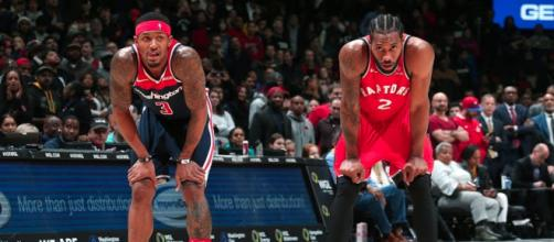 Bradley Beal and Kawhi Leonard gave their all in a double-overtime thriller on Sunday (Jan. 13). [Image via Bleacher Report/YouTube screencap]