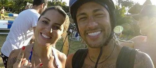 'Parabéns, meu amor', escreveu Neymar para Leticia. (Arquivo Pessoal)
