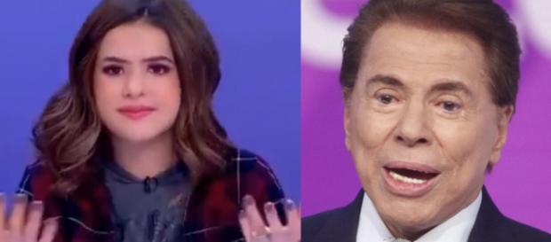 Silvio Santos e Maisa Silva (Reprodução-SBT)