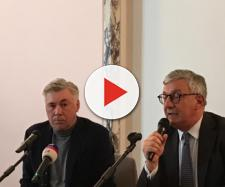 Carlo Ancelotti ospite dell'università degli studi della Campania Luigi Vanvitelli