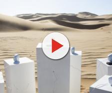 installazione musicale nel deserto della Namibia