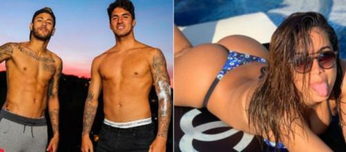 Dupla Medina e Neymar comentou em foto da cantora. (Foto/Reprodução)
