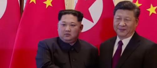 Kim Jong Un makes surprise visit to Beijing. [Image source/Financial Times YouTube video]