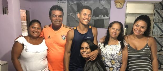 Danrley e sua família (Reprodução Gshow)