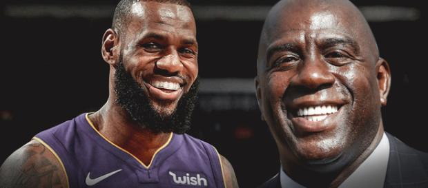 LeBron James and Magic Johnson / Image by Clutchpoints / Instagram