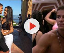 Ele e a namorada Larissa (Reprodução Instagram Danrley / TV Globo)