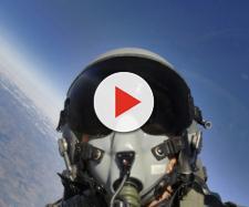 Fighter aereo caccia pilota elmetto