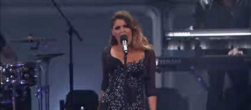 Cristina Ramos had a surprise in store on America's Got Talent: The Champions Week 2,[image source: AGT-YouTube]