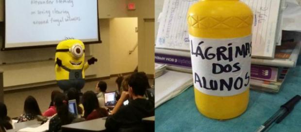 Eles souberam deixar a aula mais divertida ( Foto - Reprodução )