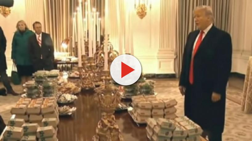 White House short of cooks due to shutdown, Trump orders fast food for Clemson Tigers