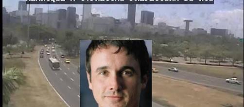 Imagens de câmeras da prefeitura registraram o acidente. (Foto/Reprodução)