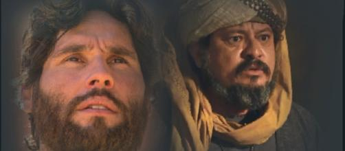 Zaqueu (Hilton Castro) e Jesus (Dudu Azevedo) vão se encontrar