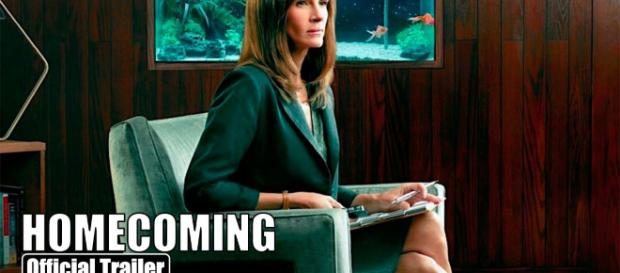 """""""Homecoming"""" star Julia Roberts is leaving the show after one season. [Image Credit] Today Movie Trailers 2.0 - YouTube"""