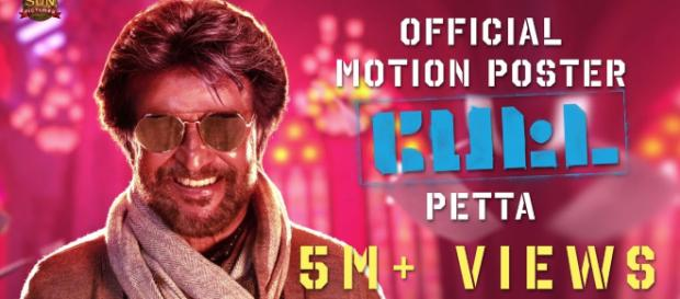 """"""" Petta"""" is ahit and comes just 2 months after success of """"2.0"""" Photo -Image credit( Sun Tv/ Youtube.com)"""