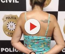 A mulher foi presa em flagrante pela polícia (foto: Polícia Civil)
