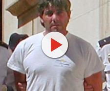 José Javier Salvador tras su detención en 2003 por el asesinato a su mujer
