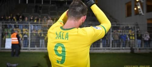 Emiliano Sala remerciant les supporters nantais