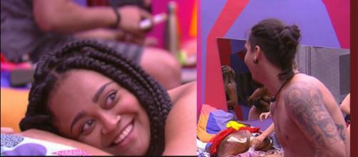 Rízia falou que é míope, e tem dificuldade para enxergar. (foto: reprodução / TV Globo)