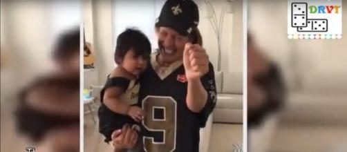 Today's Hoda Kotb is savoring daughter Haley Joy's toddler determination and Saints' devotion.[Image source:US Femail-YouTube]