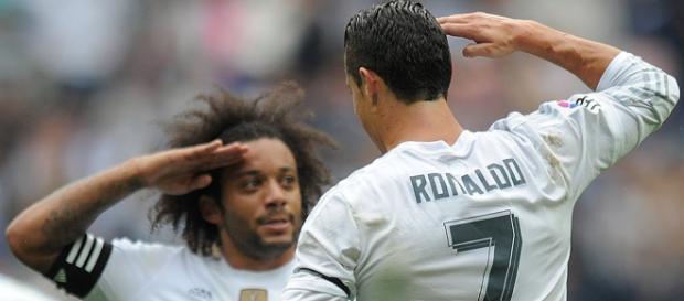 Cristiano Ronaldo e Marcelo (Imagem via Youtube)