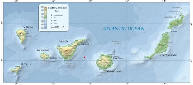 Epicentro del terremoto de 4'3 en Canarias