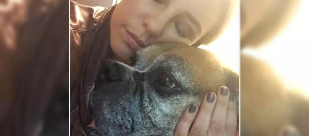 Paolla Oliveira e o cão Adjá (Reprodução Instagram Paolla Oliveira)