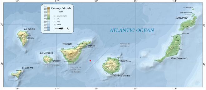 Un terremoto de magnitud 4'2 sacude Canarias