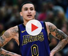 Kyle Kuzma helped lead the Lakers to an overtime victory against OKC on Thursday (Jan. 17). [Image via Bleacher Reporter/YouTube screencap]