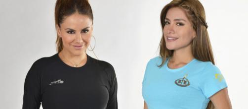 Mónica Hoyos y Miriam Saavedra posando