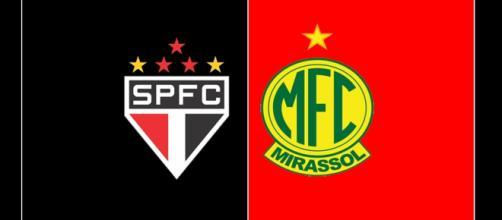São Paulo x Mirassol: ao vivo (montagem Diogo Marcondes)