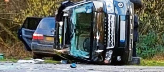 Picture of the car which the prince was driving. (Omage credit: BBC/Youtube screenshot )