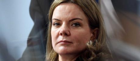Gleisi Hoffmann disse que irá enfrentar Bolsonaro. (Reprodução)
