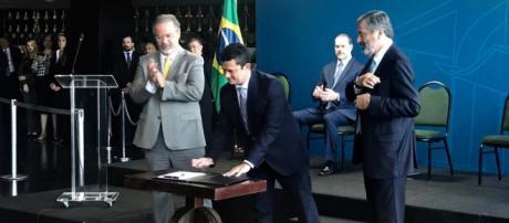 Sérgio Moro fala sobre tema prisão após condenação em segunda instância em seu primeiro discurso - Foto/Reprodução/UOL