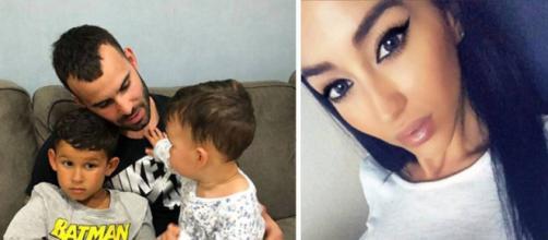 Aurah junto con Jesé Rodríguez y sus hijos