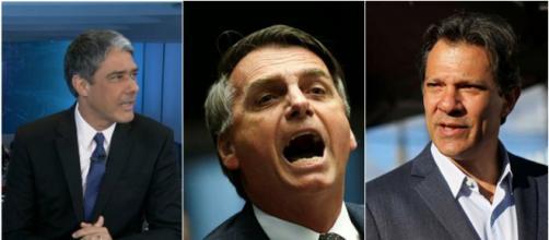 Bonner citou brigas por políticas em 2018 (Reprodução TV Globo / Câmara dos Deputados / PT)