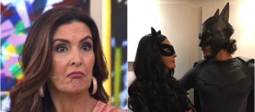 Fátima Bernardes surpresa no 'Encontro' (Reprodução TV Globo / Instagram Fátima Bernardes)