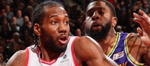 The Raptors got 45 points from their star player Kawhi Leonard to defeat Utah. - [ESPN / YouTube screencap]