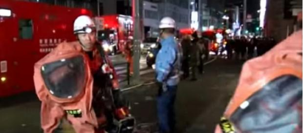 Nine hurt as car rams into crowds on popular street in Tokyo. [Image source/CGTN YouTube video]