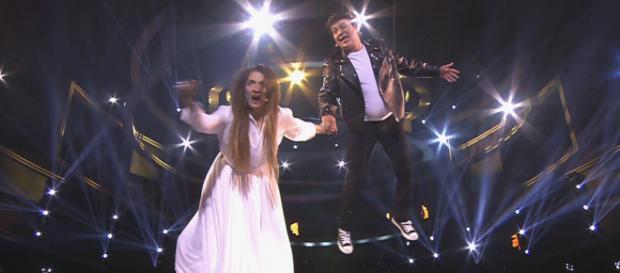 Silvia Abril y José Corbacho, como Amaia y Alfred en el Concierto de Año Nuevo. / ANTENA 3 TV
