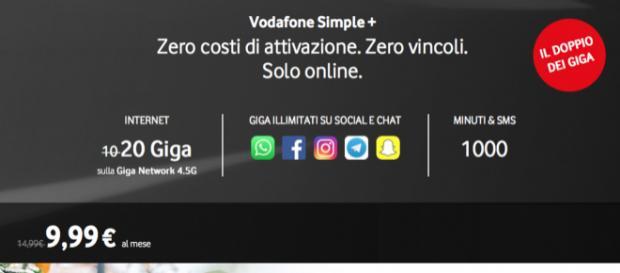 Vodafone Simple+ e Wind All Inclusive